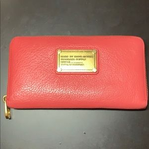 Marc by Marc Jacobs Classic Coral Zip Wallet